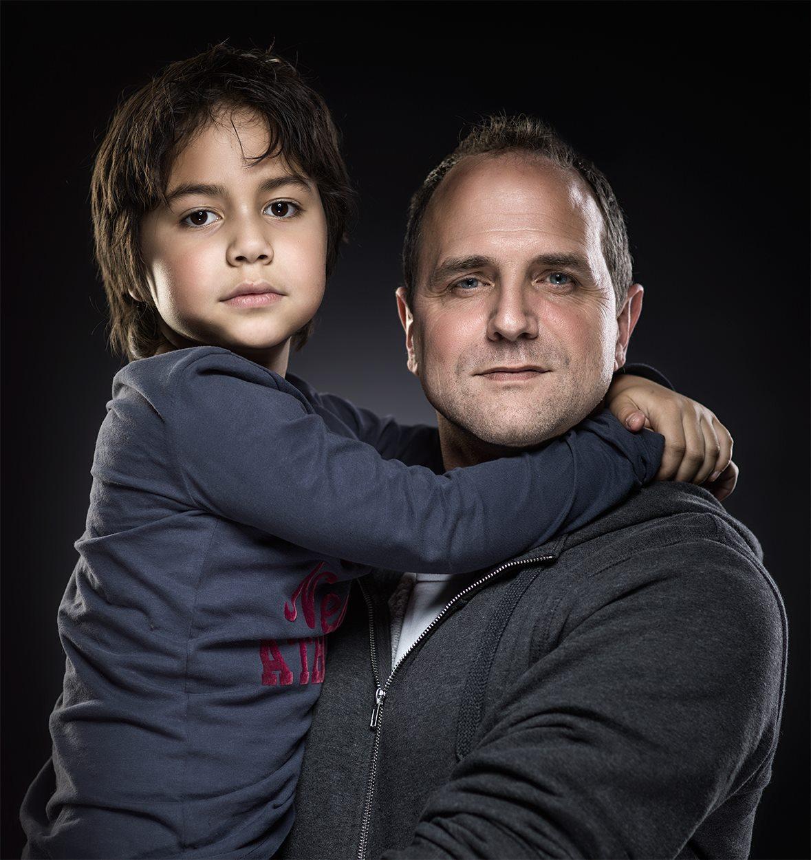 Adrian Sommeling et son fils Nic, Pays-Bas