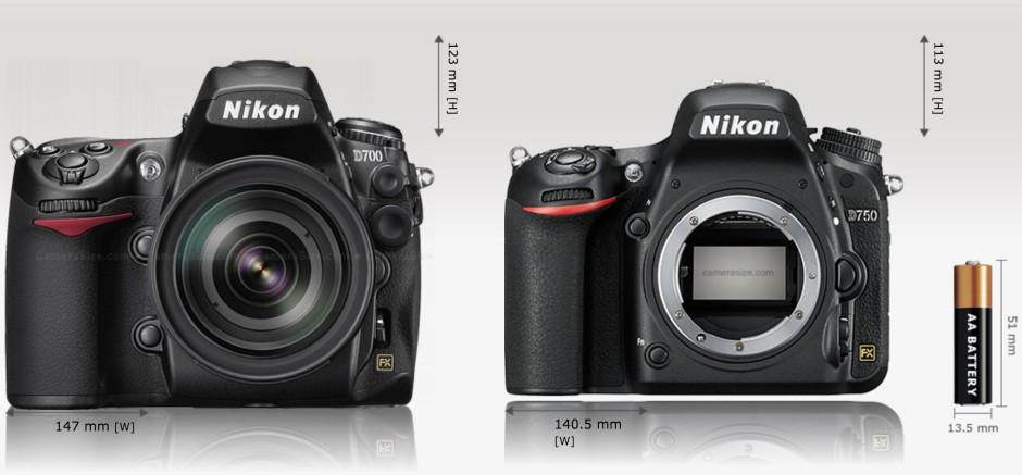 Comparatif D700 - D750