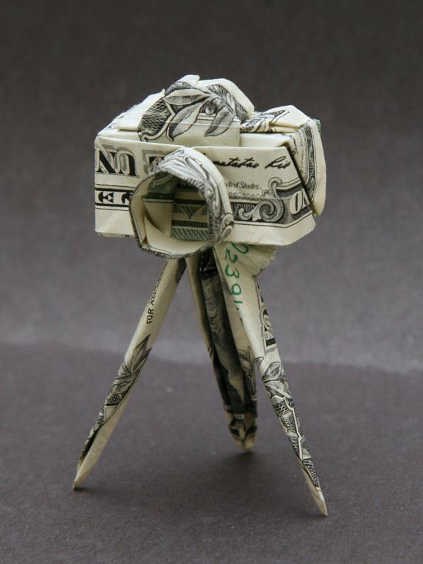 Appareil photo billet Origami