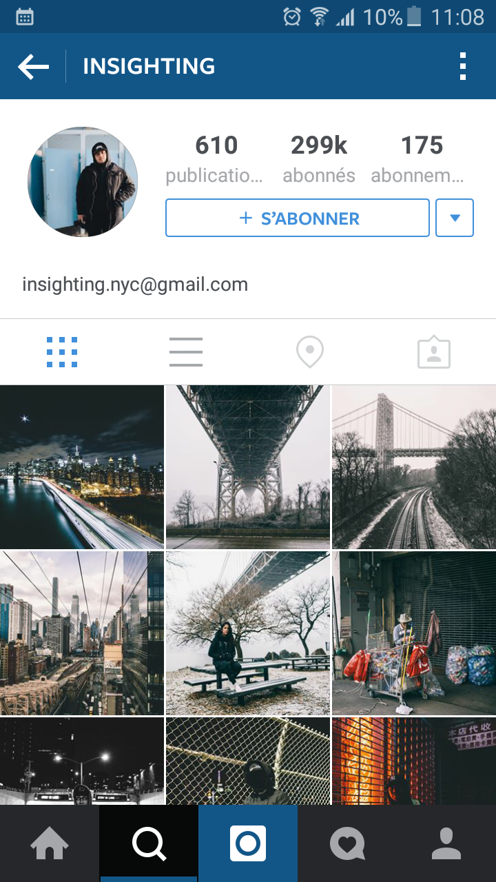 Capture d'écran du compte Instagram de @, suivi par plus de 300.000 personnes