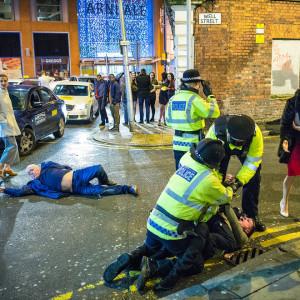 Réveillon dans les rues de Manchester, le 31 décembre 2015. Crédits: Joel Goodman