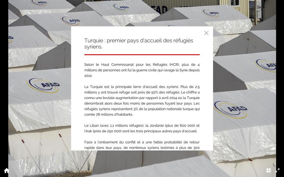 Page de texte à l'intérieur du reportage