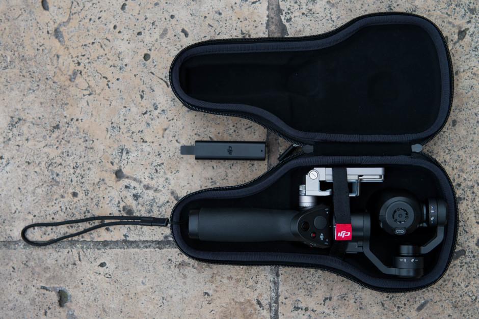 Housse de transport du DJI Osmo avec une batterie