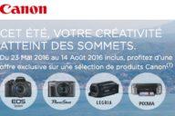 Canon Cashback Ete 2016