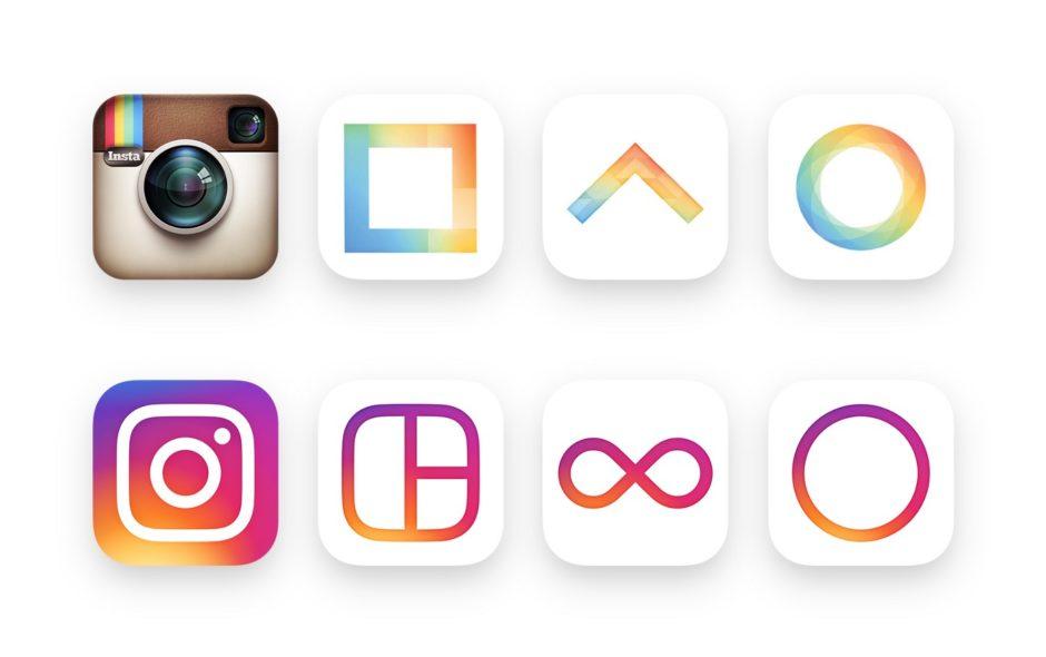 Instagram ancien nouveaux logos