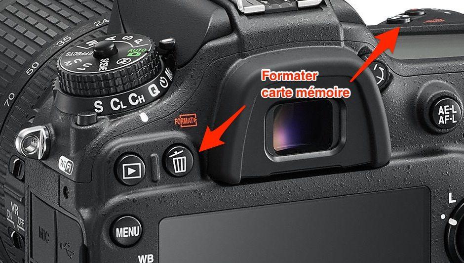 formater D7200
