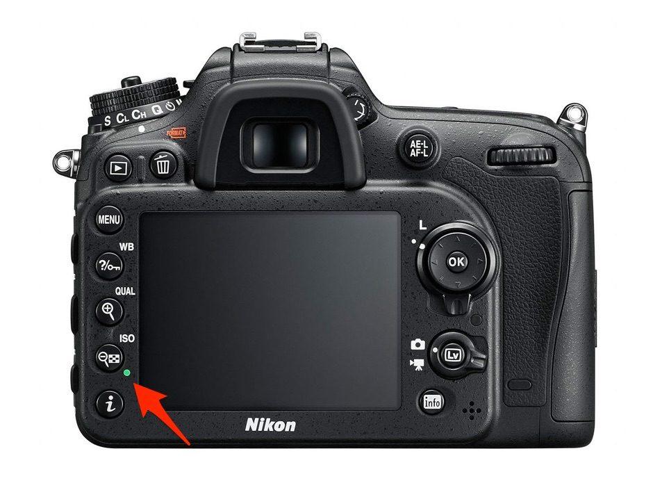 points verts Nikon D7200