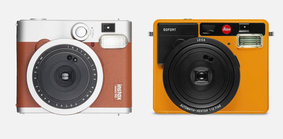 A gauche, Fuji ; à droite, Leica.