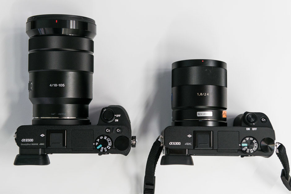 Sony A6500 contre Sony A6300