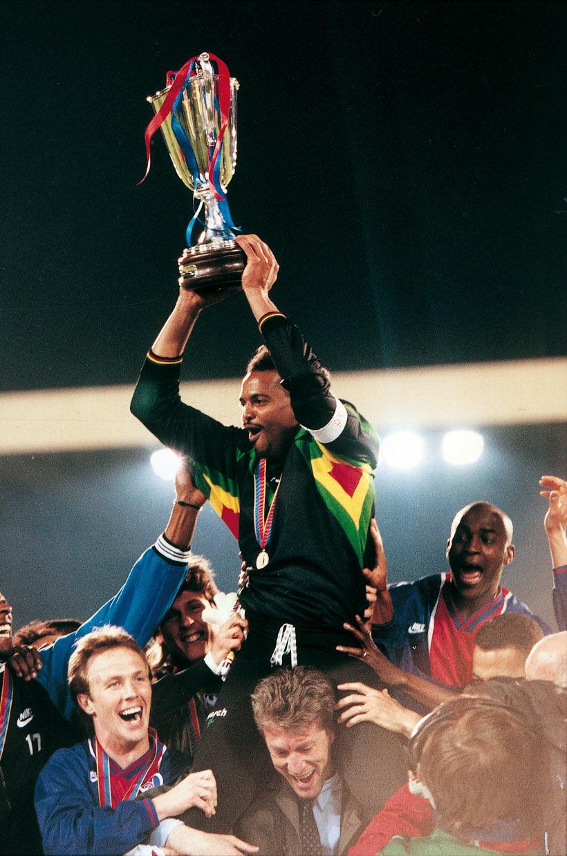 8 Mai 1996, Finale de la coupe des coupes PSG – Rapid Vienne (1-0) - © C.Gavelle-PSG