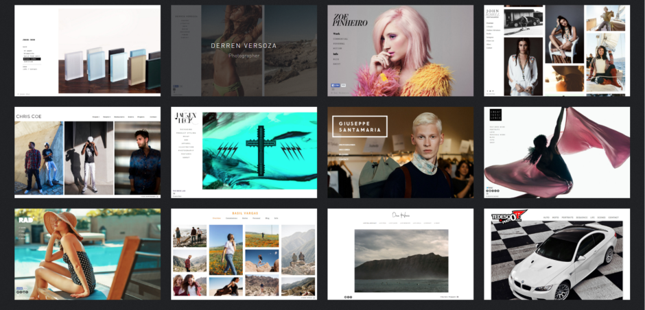 Exemples de sites et portfolios créés avec 22Slides.