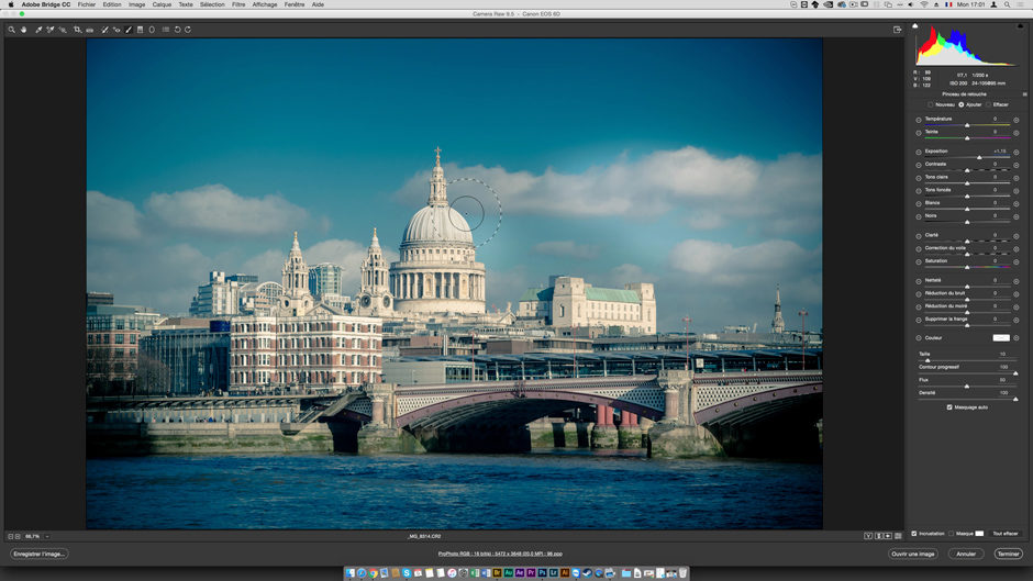 © Julien Pons - Tuto.com - Photoshop CC 2017 : La formation complète - Camera Raw peut s'ouvrir avec l'explorateur Bridge CC.