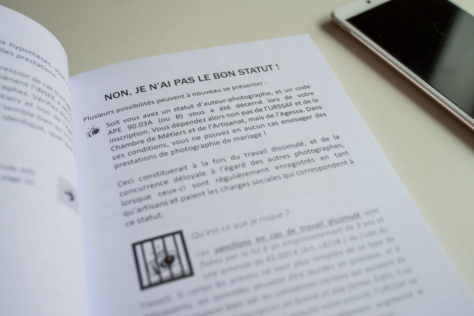 Revue de livre checklist photographe de mariage de for Statut photographe