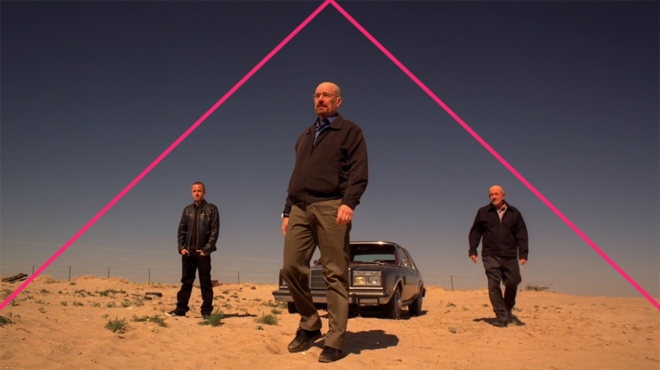 © Geometric Shots - Breaking Bad (2008-13) par Vince Gilligan - Composition triangulaire