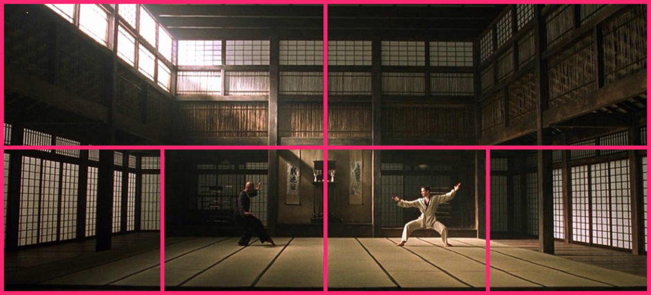 © Geometric Shots - Matrix (1999) par Les Wachowskis - Composition symétrique