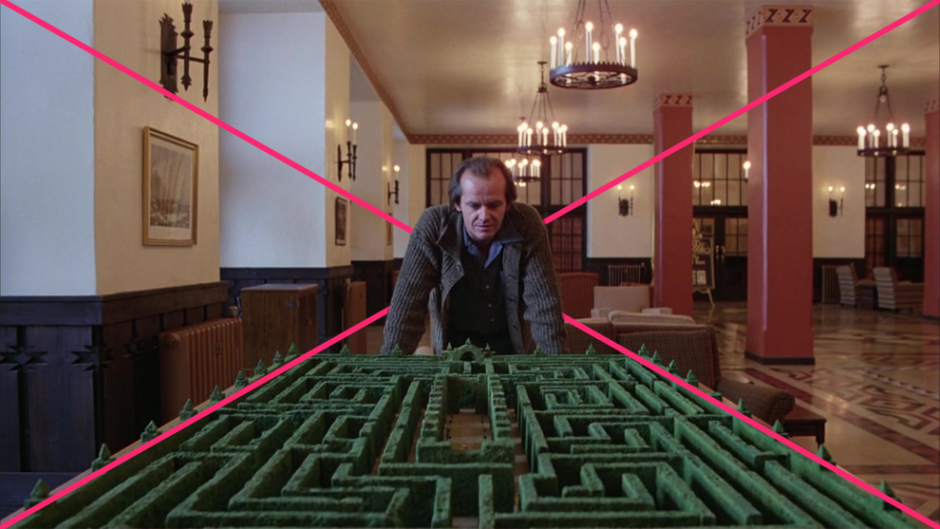 © Geometric Shots - The Shining (1980) par Stanley Kubrick - Composition en point de fuite