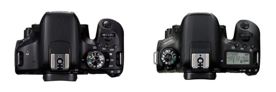 A gauche, le 800D. A droite, le 77D