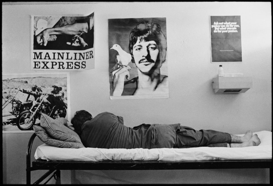 "© Bruno Barbey - Magnum Photos - ""South Vietnam, Town of Phucat - The Drug problem with American GI's in Vietnam. In an Amnesty house where an addict is being given first-aid, 1971"""