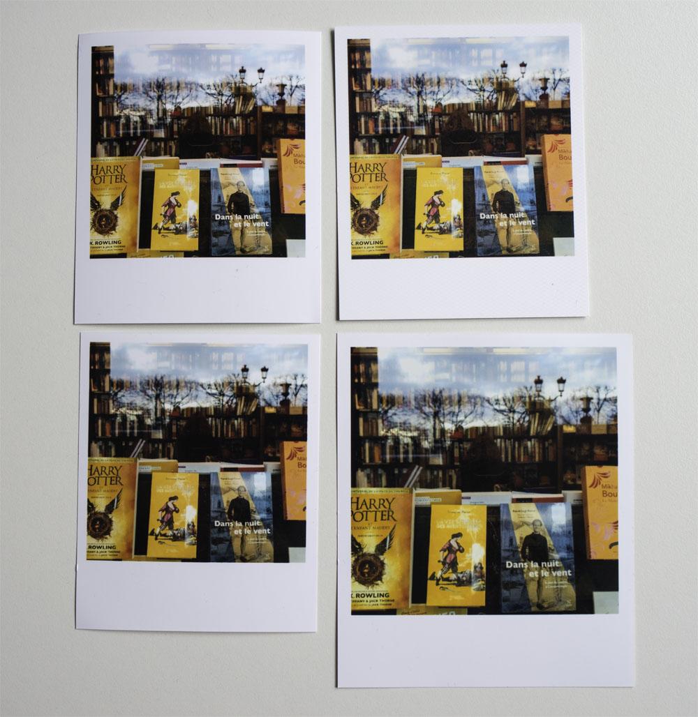 De gauche à droite et de haut en bas : Cheerz, Photoweb, Printic et Lalalab (format 10x12) - La meilleure qualité d'impression, la plus nette et plus respectueuse des couleurs, est elle de Cheerz.
