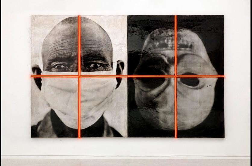 © Gao Bo - Installation de portraits en dualité - Maison Européenne de la Photographie