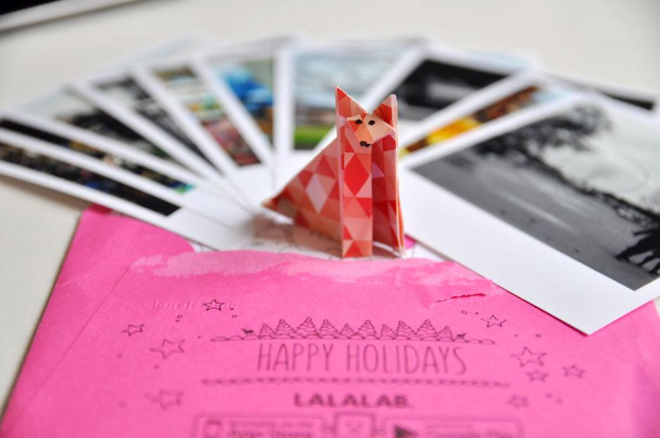 Petit cadeau envoyé par Lalalab avec le pack : un renard en origami.