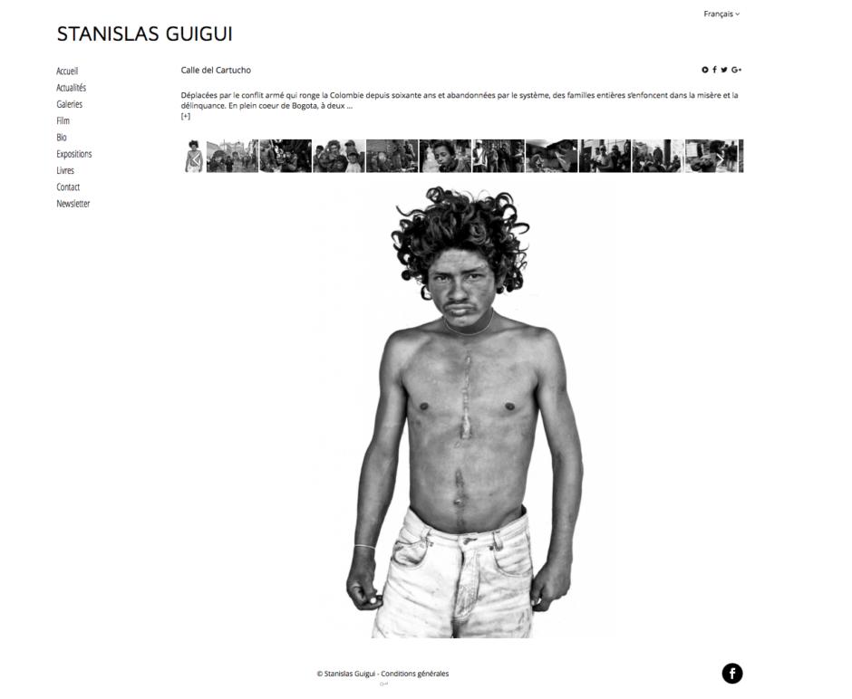 Exemple de portfolio http://www.stanislasguigui.com