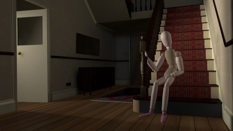 "© Nicky Hamilton - ""The Lonely Man"" - 3D Animation"