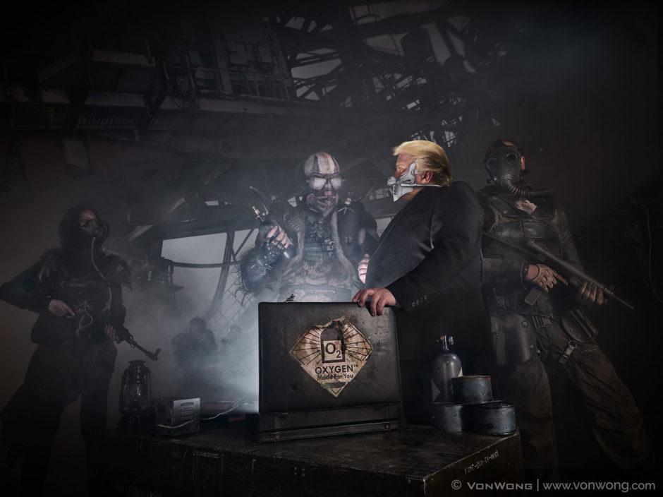 "© Benjamin Von Wong - ""Mad Max meets Trump's America"""
