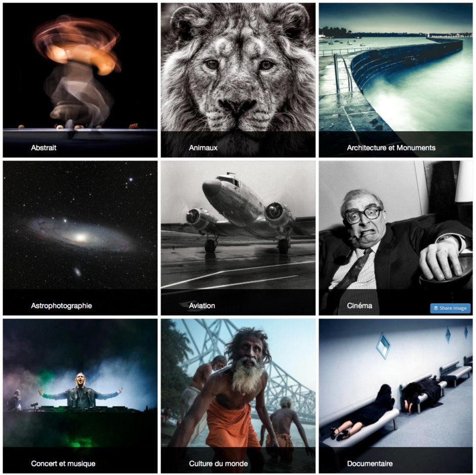 Quelques catégories que vous pouvez trouver sur ArtPhotoLimited