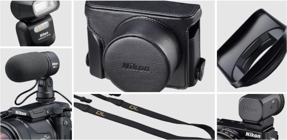 Une série de nombreux accessoires était également prévue pour cette gamme; étuis en cuir, viseur électronique, etc