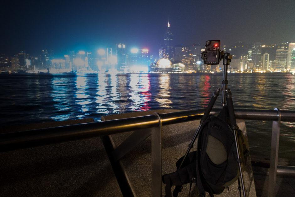 Un panoramique de poses longues à Hong Kong, stabilité plus que nécessaire !