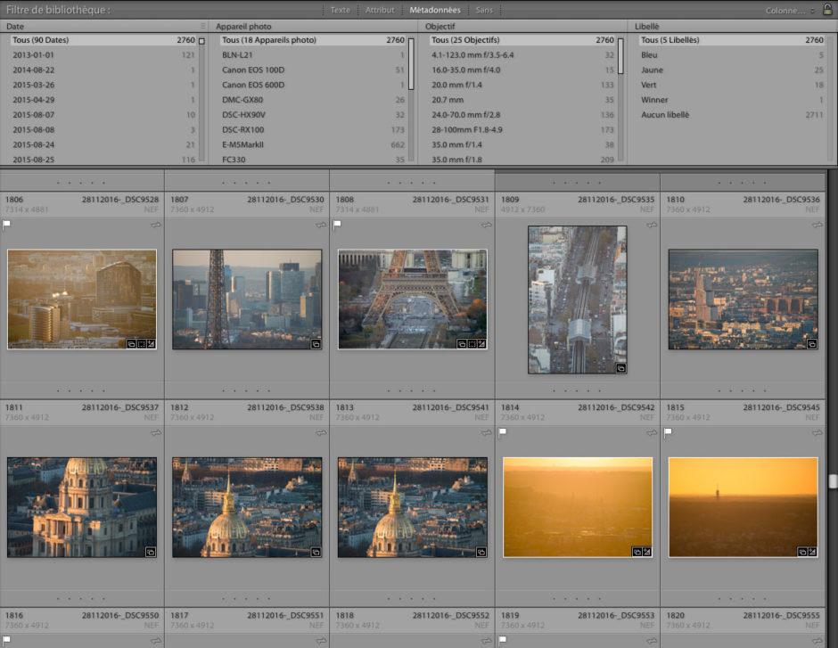 Lightroom et les filtres de bibliothèques : pratique pour filtrer les photos