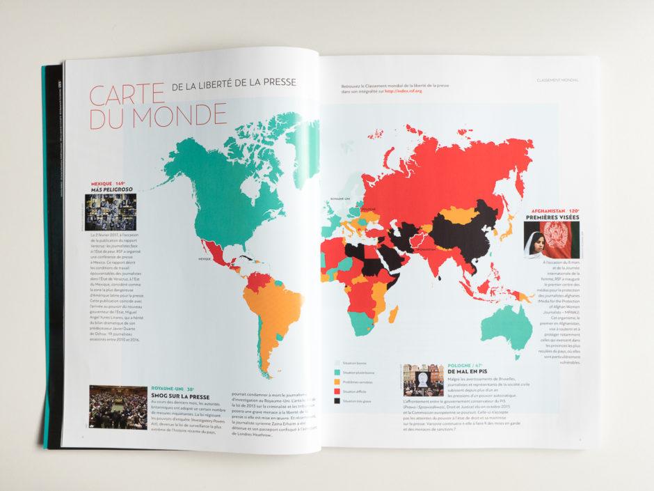 Album RSF 2017 - Carte du monde de la liberté de la presse
