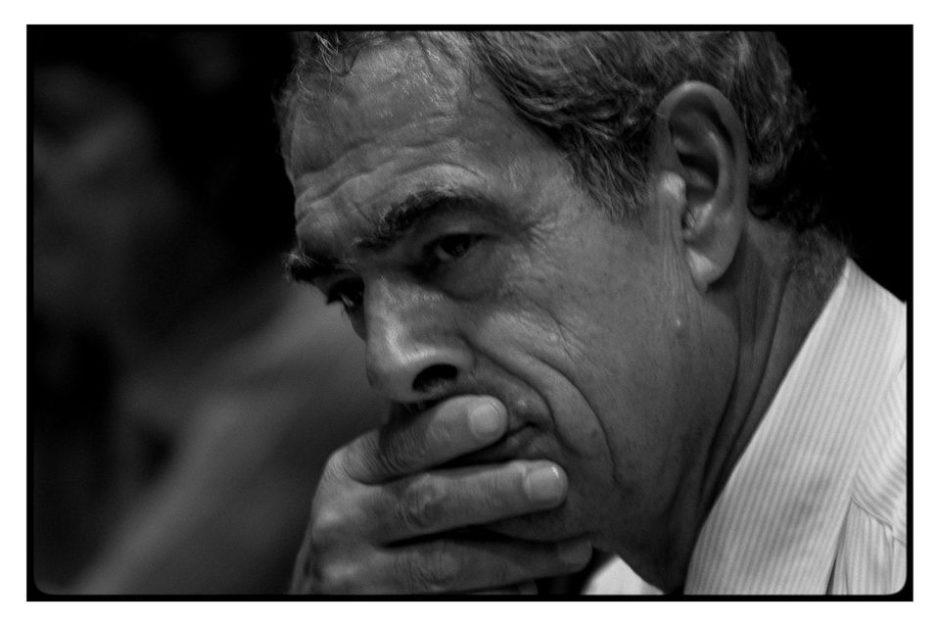 © Eric Franceschi - Henri Emmanuel en 2005 lors de la campagne pour le non au référendum.