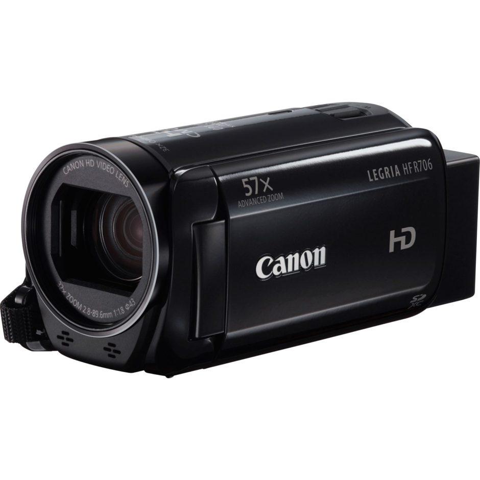 Caméscope Legria HF R706. Disponible en noir ou blanc
