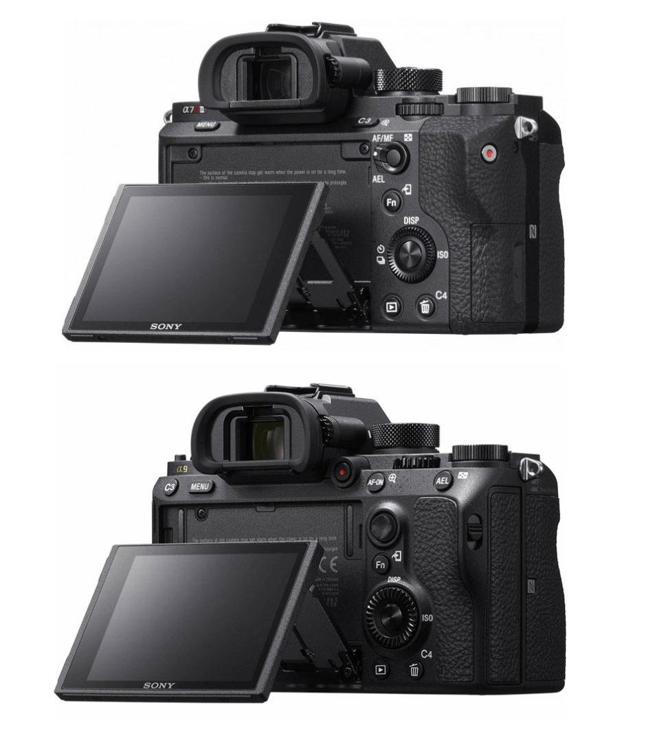 Sony A7RII (en haut) et Sony A9 (en bas)