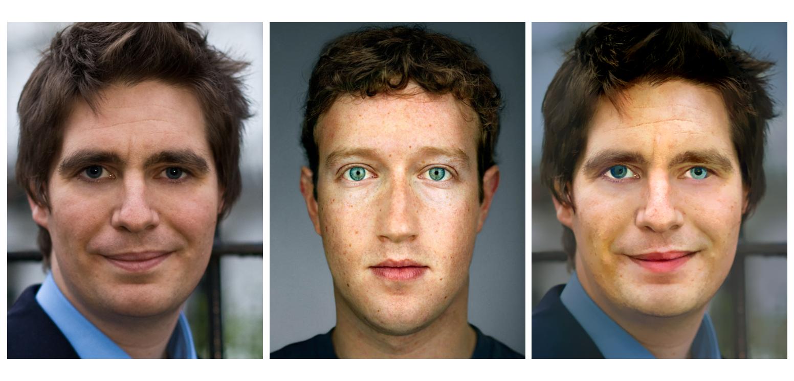 Pour la transposition de style de visage à visage, ce n'est pas encore tout à fait au point