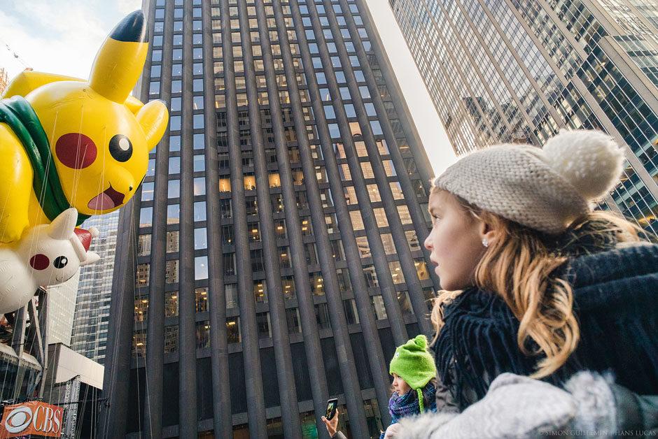 3,5 millions de personnes ont regardé défiler les fameux ballons lors de la 90 ème édition de la Macy's Thanksgiving Day Parade, entre Manhattan et le magasin Macy à W 34st. New York, Etats-Unis - 24 Novembre 2016.