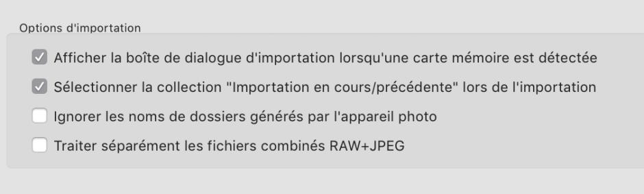 options importation Adobe