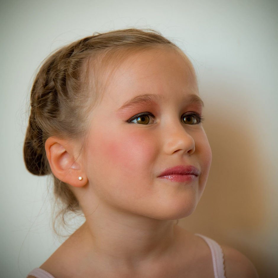 Portrait of my daughter prepared for her dance gala