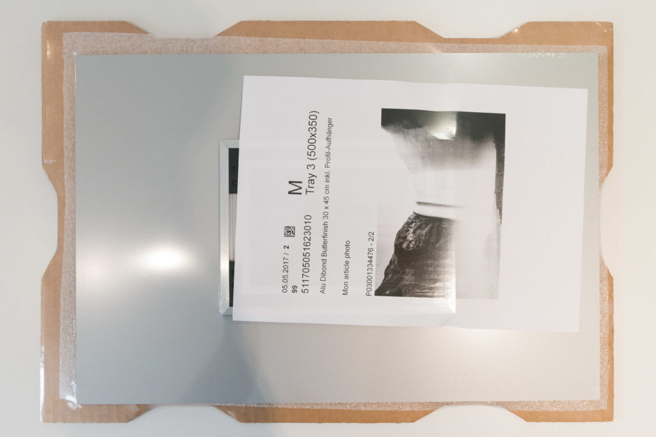 Emballage du tableau photo Alu-Dibond Butlerfinish®