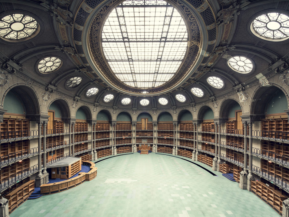 "© Thibaud Poirier - ""Libraries"" Bibliothèque Nationale de France, Salle Ovale, Paris, 1868"