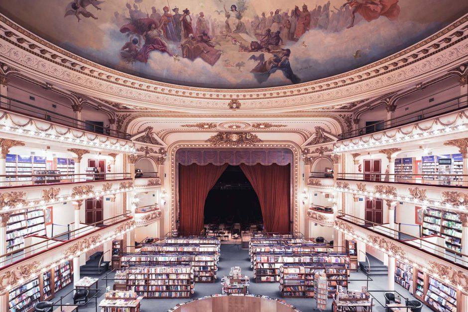 """© Thibaud Poirier - """"Libraries"""" - El Ateneo, Buenos Aires, 1919"""