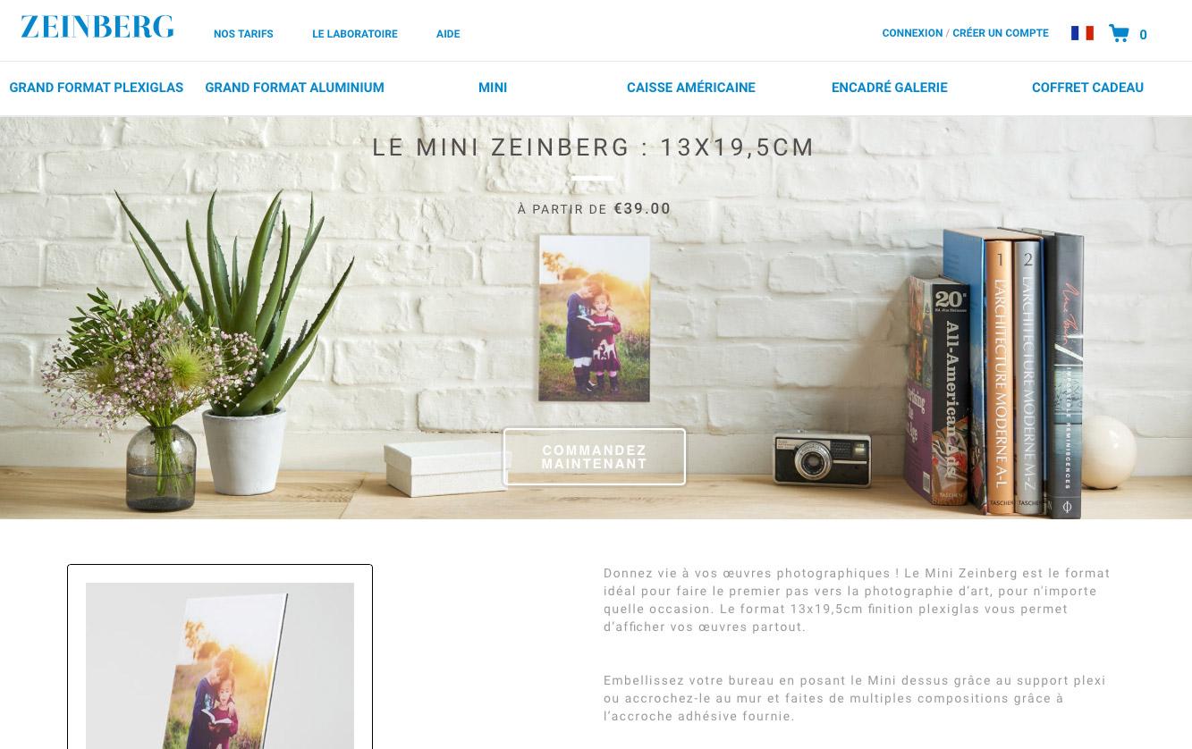 La page du format Mini Zeinberg
