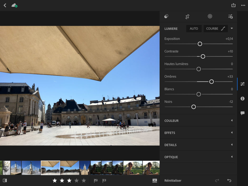 Lightroom 2.8 sur iPad : une interface plus proche de Lightroom sur ordinateur