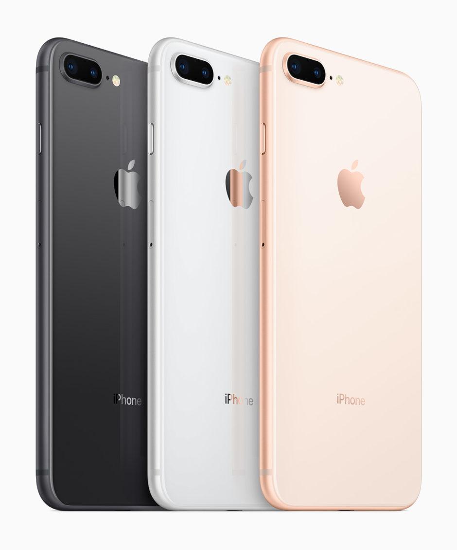 Trois coloris pour l'iPhone 8 et 8 Plus