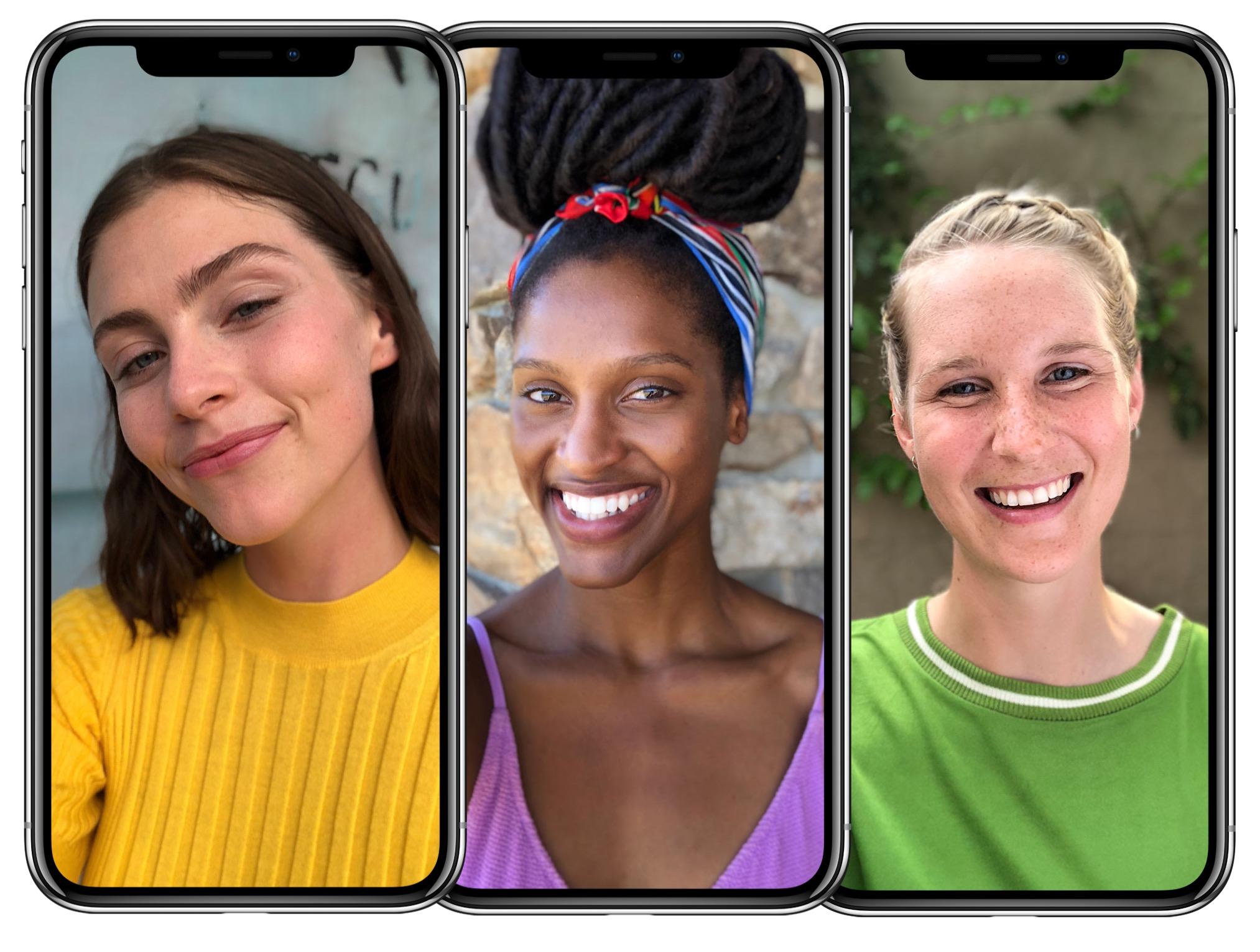 Photos prises avec la caméra frontale de l'iPhone X