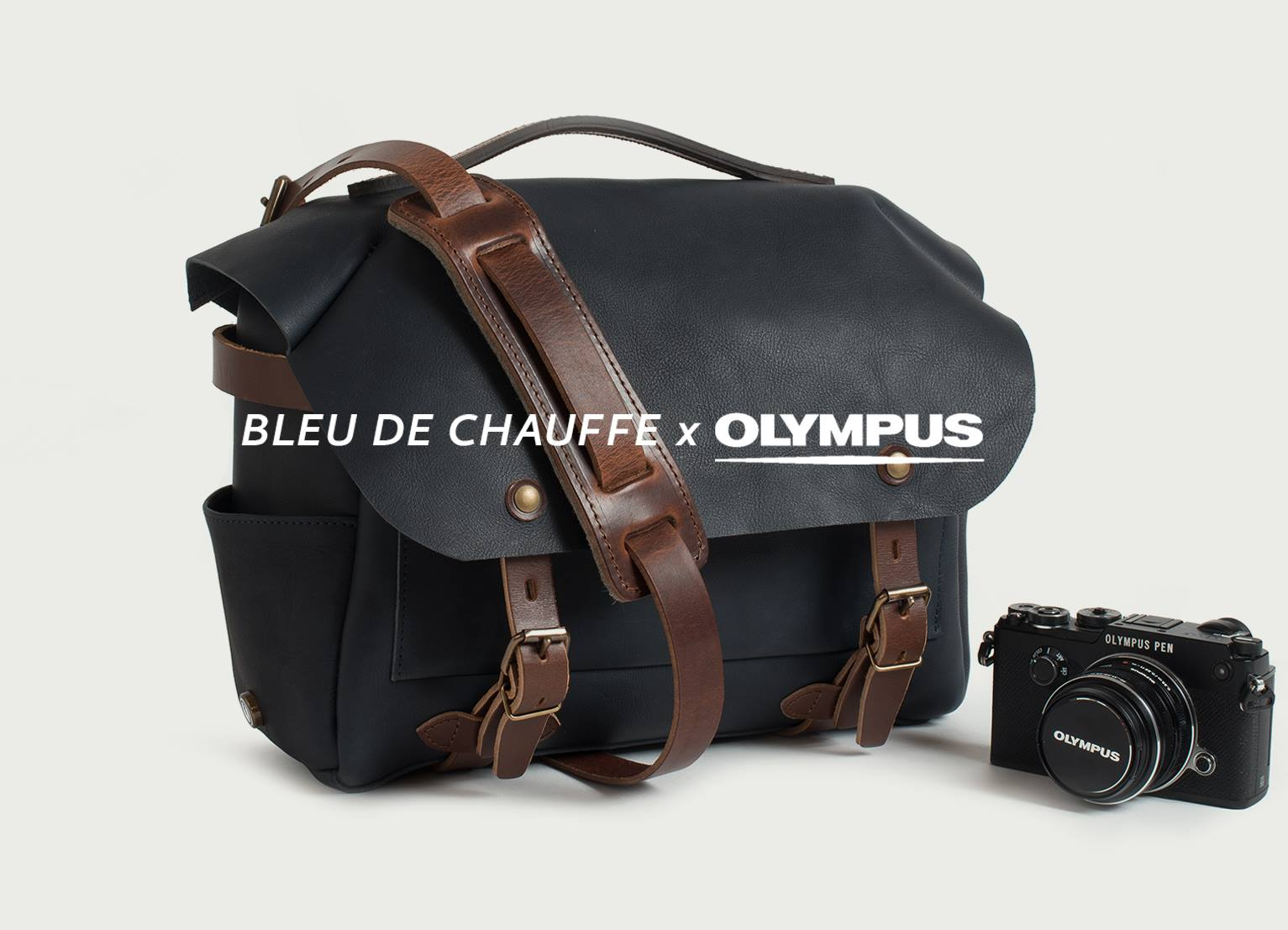 Sac photo : Olympus X Bleu de chauffe lancent une collection de sacs photo cuir