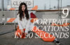 9 portraits locations in 90 seconds
