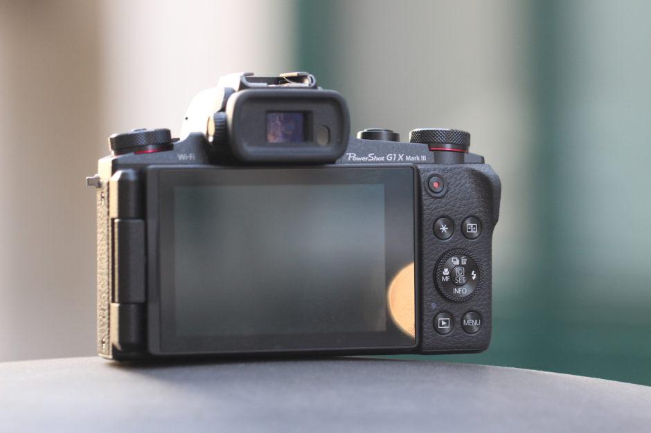 Canon G1 X Mark III Écran et viseur électronique